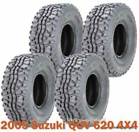 2005 Suzuki QUV 620 4X4 Full Set 4 UTV ATV Tires 23x11-10 6PR