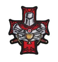 Templar Holy Grail Christian Embroidered Biker Patch Large Size FREE SHIP