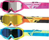 Fly Racing Zone Composite ATV MX Motocross Offroad Riding Goggles w/ Mirror Lens
