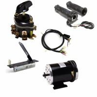 1000W Electric Brush Motor Pedal Throttle Grips Reverse Switch Scooter ATV Parts