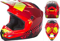 Fly Racing Youth Kids Kinetic Elite Onset Red ATV Dirt Offroad Riding Helmet