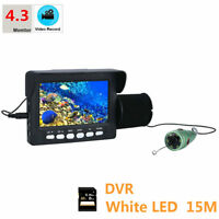 Underwater Fishing Video Camera 4.3quot;HD DVR Recorder Monitor 6pcs 1W White LED