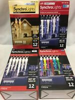 Gemmy SynchoLights Lightshow 12 Icicle Changing Pattern LED Christmas Light