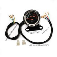 12V Universal Odometer Speedometer Gauge Gear Indicator Speed Meter ATV