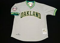 3bf9d9589e7 Rickey Henderson Jersey Oakland A s Athletics 1982 Throwback HOF Patch L OR  XL