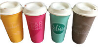 NEW 2018 Starbucks Philippines Exclusive Reusable Cup Set of 4 w Lids No Card