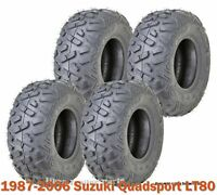 Set 4 1987-2006 Suzuki Quadsport LT80 WANDA Sport ATV tires 19x7-8 19x7x8