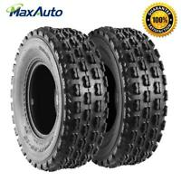 TWO Front ATV Tires - 22x7-10 22x7/10 4Ply for Yamaha Honda Suzuki
