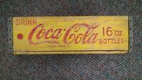 1962 Drink Coca-Cola Yellow 24 Bottle Carrier Coke 16oz Half Quarts Crate Case