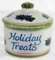 Louisville Stoneware Kentucky Holiday Treats Salt Glazed Pottery Crock With Lid