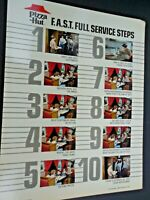 Pizza Hut Vintage Full Service Steps Instructions. 1982 Old uniforms
