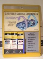 Chrysler Service Contracts Dealership Vintage Original Dealer Display Sign