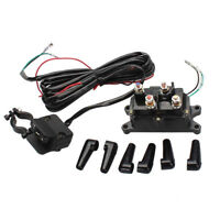 12V Solenoid Relay Contactor & Winch Rocker Thumb Switch COMBO Set for ATV UTV