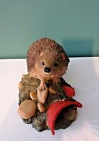 Rare CROWN STAFFORDSHIRE Hand-Painted Art HEDGEHOG Figurine - Made in England