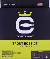 Cortland TROUT BOSS DT Fly Line DT4F Moss Yellow Orange FREE FAST SHIP 466562