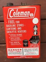 VINTAGE COLEMAN FUEL FOR GASOLINE STOVES LANTERNS CATALYTIC HEATERS EMPTY GALLON