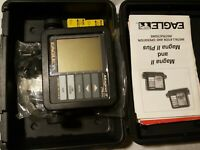 Eagle Magna ii Plus Depth Finder Screen WORKS, Papers, Case, parts, and Fuses