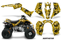 ATV Graphics Kit Quad Decal Sticker Wrap For Can-Am DS90 2007-2018 NORTHSTAR YLW
