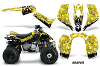 ATV Graphics Kit Quad Decal Sticker Wrap For Can-Am DS90 2007-2018 REAPER YELLOW