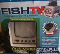 Fish TV Fishing Finder Camera Video Monitor Black Gray Underwater Viewing System