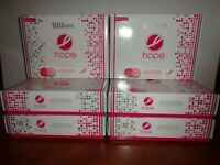 Wilson Hope Breast Cancer Research Golf Balls 6 Dozen Pink/Hot Pink 6 Boxes 12