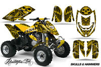 ATV Graphics Kit Decal Quad Wrap For Can-Am Bombardier DS650 DS 650 HISH YELLOW
