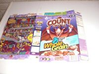 Vintage 2005 COUNT CHOCULA Castle Dungeon Maze Cereal Box