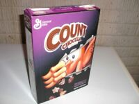 Vintage 2003 COUNT CHOCULA Special Pull out WACKY WOBBLER offer Cereal Box