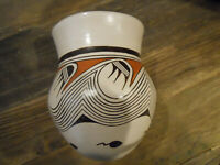 Featherwoman Helen Naha Water Design Hopi Pottery Vase and Ray Manley Book