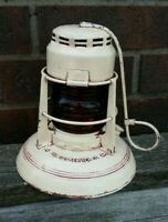 RARE WHITE 1940's CITIES SERVICE OILS GAS CO. LANTERN RED GLOBE DIETZ No. 40