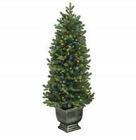 GE 4.5 ft Just Cut Norway Spruce with Color Choice LED Lights