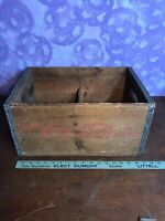 Rare Vintage COCA-COLA COKE Wood  Wooden Case / Crate / Box