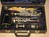 Nice old wooden Bb (?) Clarinet 5rings ALBERT  System,