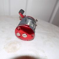 Vintage Abu Garcia Ambassadeur 6000 Red Bait Casting Reel used condition