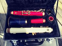 Schill Clarinet Model Patriot CL5S Red White & Blue W/ Hard Case