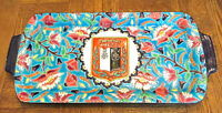 GORGEOUS ORNATE  EMAUX DE LONGWY FRANCE SERVING TRAY