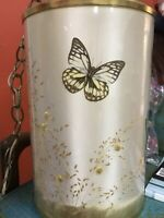 Vintage Van Briggle Lampshade Hanging Swag Light Lamp Shade Butterfly Grasses