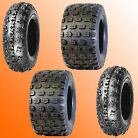 Raptor 700 ATV Tires 21x7-10 Front 20x11-9 Rear Tire Kit Yamaha 6-Ply 648/654