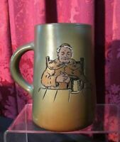 VINTAGE ANTIQUE WELLER DICKENSWARE ART POTTERY MUG WITH A MONK PORTRAIT