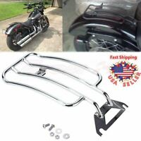 Solo seat Luggage Rack For Harley Electra Glide Road King Touring FLH 1997 2005