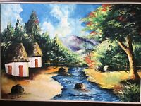 brush paiting art on canvas by Sanders $60.00