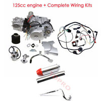 125cc Engine Motor Kit + Wiring Harness+ Exhaust for ATV Ride on Mower Dune Quad