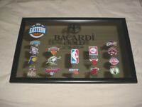 BACARDI GOLD RUM NBA MIRROR 15 EASTERN CONFERENCE TEAMS LOGOS BASKETBALL