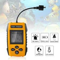 Fish Finder 100M LCD Alarm Sonar Depth Sensor Portable Fishfinder Transducer US~