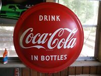 NEW OLD STOCK 1953 DRINK COCA COLA IN BOTTLES 36 INCH BUBBLE SIGN