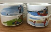 4 Vintage CAMPBELL SOUP KIDS Winter Sports Canada Exclusive BOWL MUG, Not Used