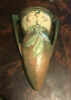 VINTAGE ANTIQUE ROSEVILLE DAHLROSE ART POTTERY 10