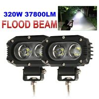 2x 4INCH 320W LED WORK LIGHT BAR SPOT OFFROAD SUV ATV FOG TRUCK LAMP 4WD 12V