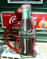 Large Vintage COCA COLA Embossed 1995 Giant Classic COKE Bottle SIGN Huge 40