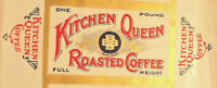1900#x27;s KITCHEN QUEEN COFFEE BOX FLAT SHEET NOT FOLDED INTO A BOX LOT J417